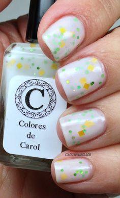 Colores de Carol yellow nail glitter