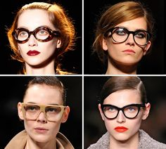Matching your makeup to your glasses.