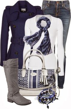 Fall Outfit With Trench Coat,Scarf and Long Boots
