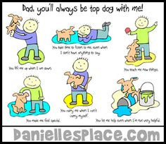 """Father's Day Card Craft for Kids - """"You'll Always be Top Dog to Me!"""" from www.daniellesplace.com"""