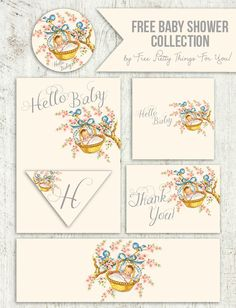 Free Vintage Baby Shower Printable Collection