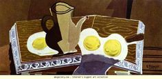 Georges Braque. Pitchet, verre et citrons. 1942. Oil on canvas. Private collection. Olga's Gallery.