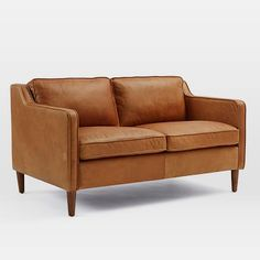 Hamilton Leather Loveseat #westelm I want this! It's so perfect! $1,699.00
