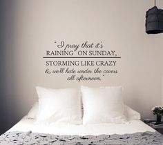 Raining on Sunday Wall Decal  Keith Urban Song by WallAffection, £16.00