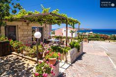 Independent Lofos Village lux stone apartment with sea view, Agia Marina, Crete | Cretico