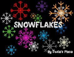 Snowflakes FREE for you to use! Enjoy the clipart-Happy Holidays!