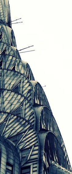 Close up of the Chrysler Building |  New York Art Deco at its finest