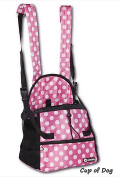"""Sac Ventral transport chien  """"Front Carrier"""" Doxtasy - Polka Dot https://www.cupofdog.fr/sac-transport-chihuahua-petit-chien-xsl-351.html"""