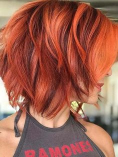 Hot Red Hair Colors for Short Hair Cuts for Ladies in 2020