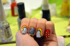 Dumbo nail art.