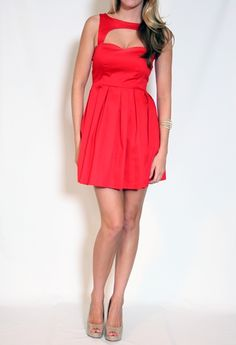 Cut Out Pleated Dress...Would be really cute strapless or the full dress part at the top!