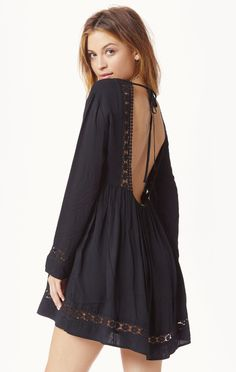 SheIn offers Black Long Sleeve Backless Dress & more to fit your fashionable needs. Cheap Dresses, Casual Dresses, Long Sleeve Backless Dress, Sleeve Dresses, Boho Fashion, Fashion Dresses, Bohemian Mode, Patchwork Dress, Boho Dress