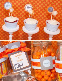 Cupcakes and candy bar