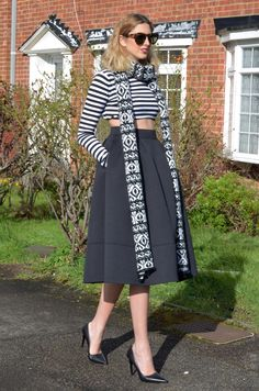 Summer full Skirts with matching scarf