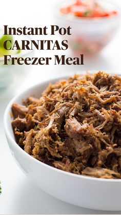 Healthy Freezer Meals, Make Ahead Meals, Meals For One, Easy Meals, Low Carb Diet Plan, Low Carb Keto, Mexican Pulled Pork, Carnitas, Low Carb Desserts