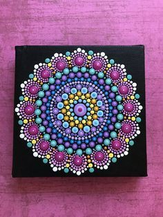 Original hand painted acrylic mandala painting. Painting is on 5 x 5 canvas which is signed, dated, and comes to you with a bluebird of happiness. It is my hope that each painting created with love and joy will bring the same to you...Namaste