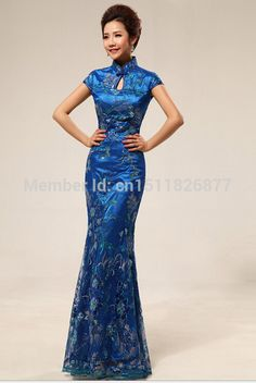 Find More Wedding Dresses Information about Free shipping 2014 Hot selling wholesale vintage improved wedding dress blue dress with Beautiful stereoscopic embroidery WD20,High Quality dress deep,China dresses india Suppliers, Cheap dress 2010 from World Boutique on Aliexpress.com