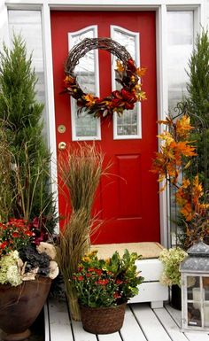 front door decorations for fall | Decorating Your Front Door For Fall