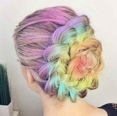 What New Beauty Trends Do Millennial & Gen Z Women Want To Try . Beauty Trends 2019 beauty trends generation z Gothic Hairstyles, Braided Bun Hairstyles, Unique Hairstyles, Pretty Hairstyles, Braided Updo, Wedding Hairstyles, Different Braids, Goth Hair, Hair Color Purple