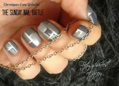 Fifty shades of grey nails