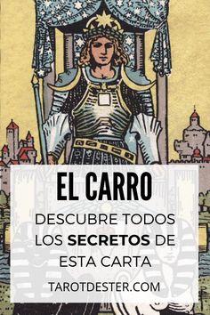 El Carro es una de las cartas de Tarot que muestra equilibrio. Es el VII Arcano Mayor. Descubre todos los secretos y significados pulsando la imagen. Tarot Significado, Vii, Samurai, Reading, Wicca, Astrology, Frases, Tarot Cards, Tarot Spreads