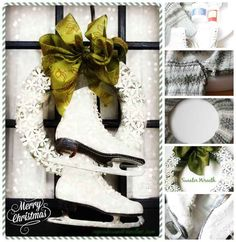Ice Skates | 50 Unexpected Wreaths You Can Make Out Of Anything
