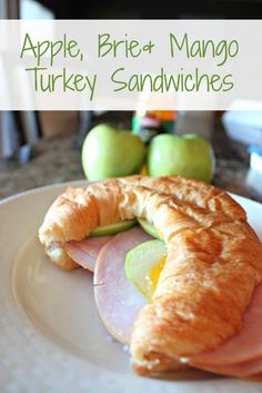 Apple, Brie and Mango Turkey Sandwiches are a delicious Summer lunch!