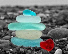 Sunny SoCal Seaglass Stack Print Beach Photo Art Coastal   Etsy Alphabet Photography Letters, Letter Photography, Nature Photography, Sea Glass Beach, Sea Glass Art, Ocean Photos, Beach Photos, Color Splash Photo, Sea Glass Colors