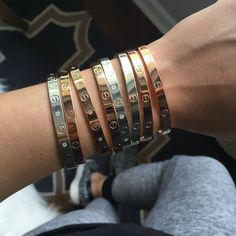 """- 18K gold, silver or rose gold plated bangles. - Seamless closure. - Price is for one individual bracelet. - INNER measurements : - Regular: measures 17.75 cm/ 7"""" around, 2"""" by 2.25"""" diameter. This s"""