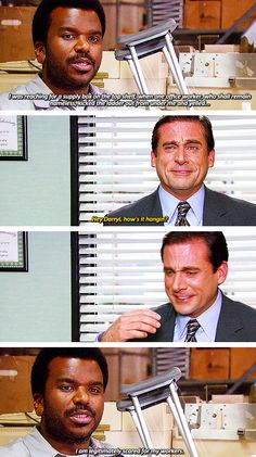 When Michael laughs uncontrollably...it's too funny! One of my favorite scenes of the entire show!
