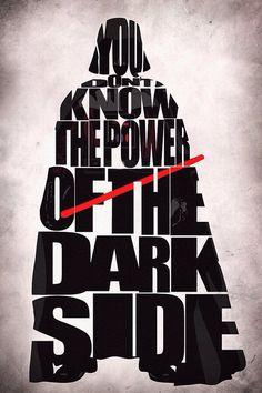 Star Wars Darth Vader Print - Darth Vader from Star Wars Movie Series - Minimalist Illustration Typography Art Print & Poster Darth Vader Star Wars, Darth Vader Artwork, Darth Vader Poster, Darth Maul, Star Wars Film, Star Trek, Star Wars Fan Art, Vader Tattoo, Star Wars Cute