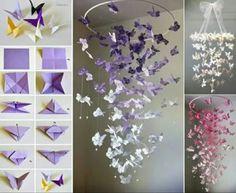 #origami #papercrafts #papiroflexia #mobile #butterflies #mariposas #colorful #decoration #decoracion #diy #crafts #manualidades