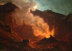 The Athenaeum - Vesuvius (Franz Ludwig Catel - ) 1812 Moonlight Painting, Grand Tour, Romanticism, Sunrise, Tours, Antiques, Drawings, Austria, Oil