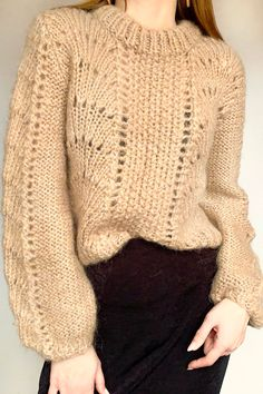 Beige mohair sweater short sweater HANDMADE sweater One size Swipe photo to look around wool mohair acrylic Dimensions for S size: Length – 45 cm. Mohair Sweater, Hand Knitted Sweaters, Fall Sweaters, Pull Mohair, Pullover, Color Beige, Sweater And Shorts, Easy Knitting, Knit Fashion