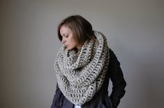 the alaskan infinity scarf-oatmeal. by ozetta, via Etsy.