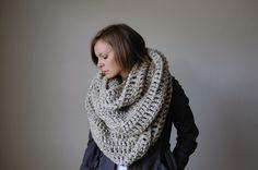 the alaskan infinity scarf-oatmeal. by ozetta, via Etsy.