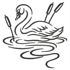 Swan Outline 01(Md) machine embroidery designs