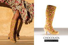 https://www.tamaraflamenco.com/es/zapatos-de-flamenco-profesionales-4 Zapato profesional de flamenco Begoña Cervera Modelo Bota Chocolata