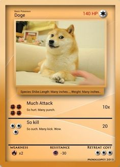 Pokemon Doge I chose you! Dead Memes, Dankest Memes, Animal Memes, Funny Animals, Funny Images, Funny Pictures, Pokemon Pictures, Doge Meme, Pokemon Funny