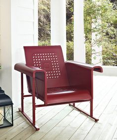 Another great find on #zulily! Coral Red Veranda Glider Chair by Crosley #zulilyfinds
