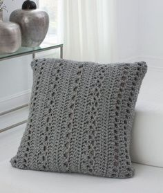 Big & Cozy Floor Pillow Free Crochet Pattern from Red Heart Yarns