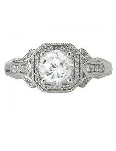 Romance Collection: Vintage Fleur De Lis Style Engagement Ring