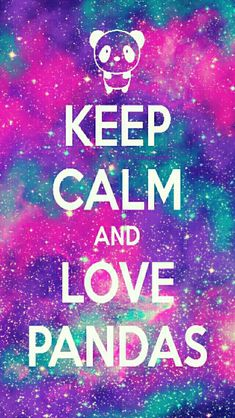 Keep Calm, Love panda galaxy iPhone/Android wallpaper created for the app CocoPPa!