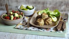 Try this healthier twist on a classic family recipe. Turkey is traditionally leaner than chicken and using mince made with thigh meat helps to keep these meatballs really moist. Healthy Meats, Healthy Meals For Two, Healthy Chicken Recipes, Healthy Eating, Healthy Dinners, Healthy Foods, Mince Recipes, Meatball Recipes, Turkey Recipes