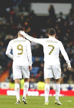 Benzema & Cristiano Ronaldo.