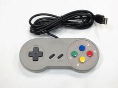 Old Skool SNES Style USB Controller for PC & MAC **RETRO** #OldSkool