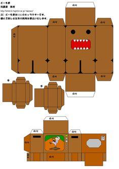 Domo-kun papercraft