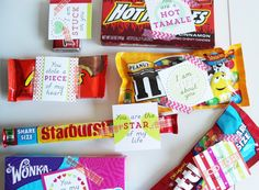 14 Days of Valentine's Candy Tags by FawnUpon on Etsy, $3.00