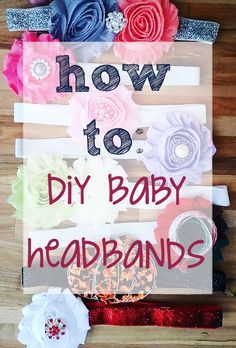 One of the first things I shopped for when I found out that I was having a girl was custom headbands…what I didn't expect to find was how EXPENSIVE they were. We are talking on average … Custom Headbands, Diy Baby Headbands, Diy Headband, Baby Bows, Flower Headbands, Headband Pattern, Baby Kind, My Baby Girl, Barrettes
