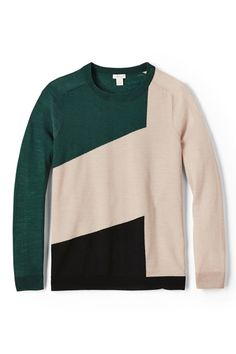 Ways To Upgrade Your Wardrobe Now   Colorblocked Sweaters Why wear one hue when you can wear a nice array of them?